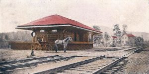 The depot at Brown's Station, one of the communities lost to the Ashokan Reservoir