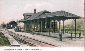 In the background, you see the old freight house, which is all that remains today. The fancy passenger depot is gone.